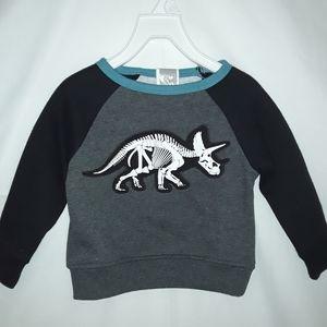 NEW! DINOSAUR SKELETON Long sleeve/Sweater 12 M.